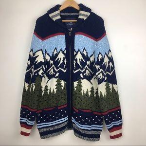 American Eagle Winter Men's Cardigan Sweater